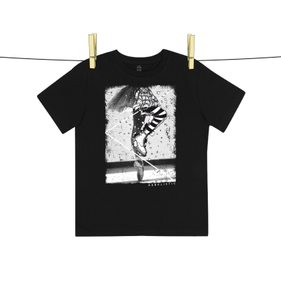 """REBELISTIC"" Junior Black - Rebel Ballerina T-shirt for kids"