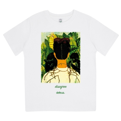 DISAGREE -Tshirt kids Frida Kahlo 100% Organic Cotton