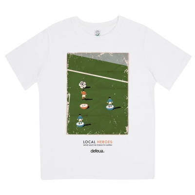 LOCAL HEROES -Tshirt kids Subbuteo 100% Organic Cotton-Size