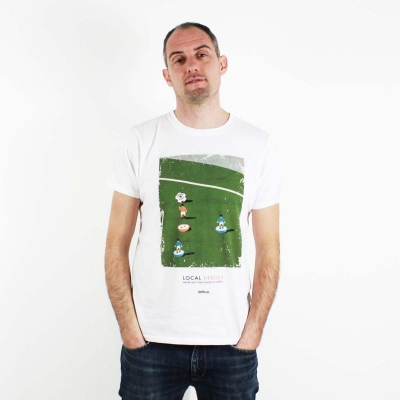 LOCAL HEROES Subbuteo design - men t-shirt organic cotton