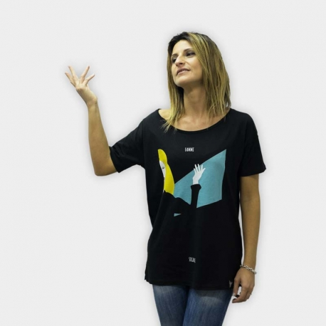 "Defeua® ""FAMMI SOGNARE"" woman tshirt oversized style - Patty Pravo singer artwork"