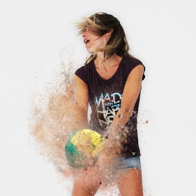 MWH BEACHER Women T-shirt Beach Volley lovers
