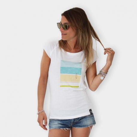 "Defeua® ""Summer One"" STRIPES women raglan tee surf beach"