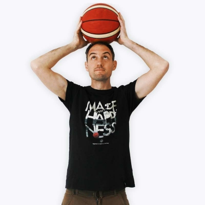 Defeua® MWH T-shirt uomo BASKETBALL is happiness