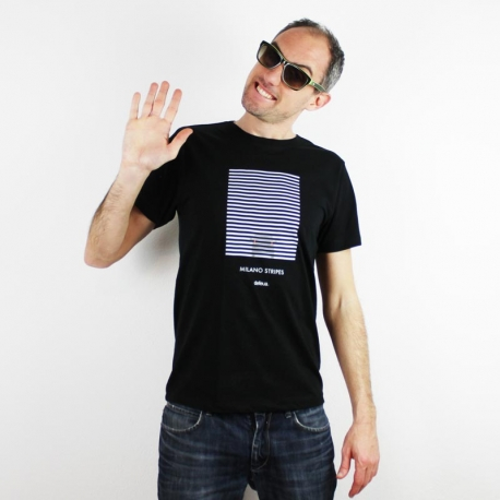 Defeua Milano STRIPES men t-shirt - The t-shirt made of stripes about Milano