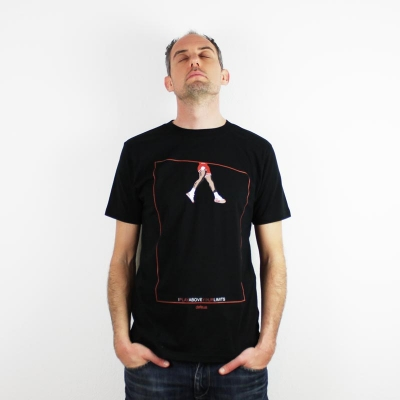 Defeua® ABOVE men T-shirt Jordan 100% organic cotton