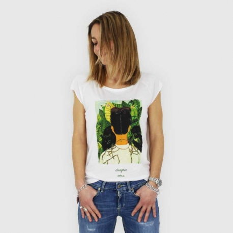 Defeua® DISAGREE Tshirt with Frida Kahlo graphic, made of bamboo and organic cotton