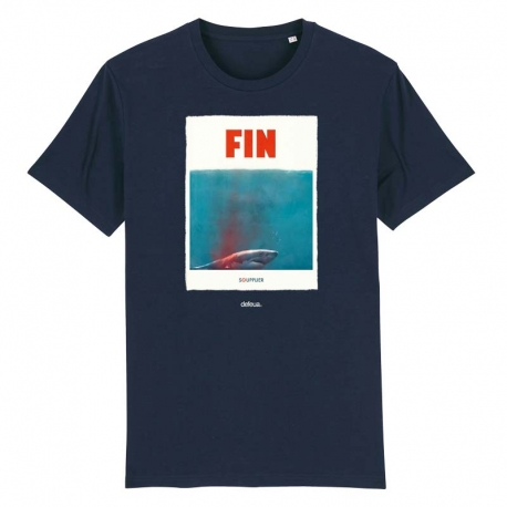 """""""FIN"""" a t-shirt on a mission, born to protect sharks and support Sea Shepherds campaigns"""