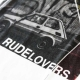 "Defeua® ""RUDE LOVERS"" Tshirt donna in bamboo Fiat126 Born in Camporella"