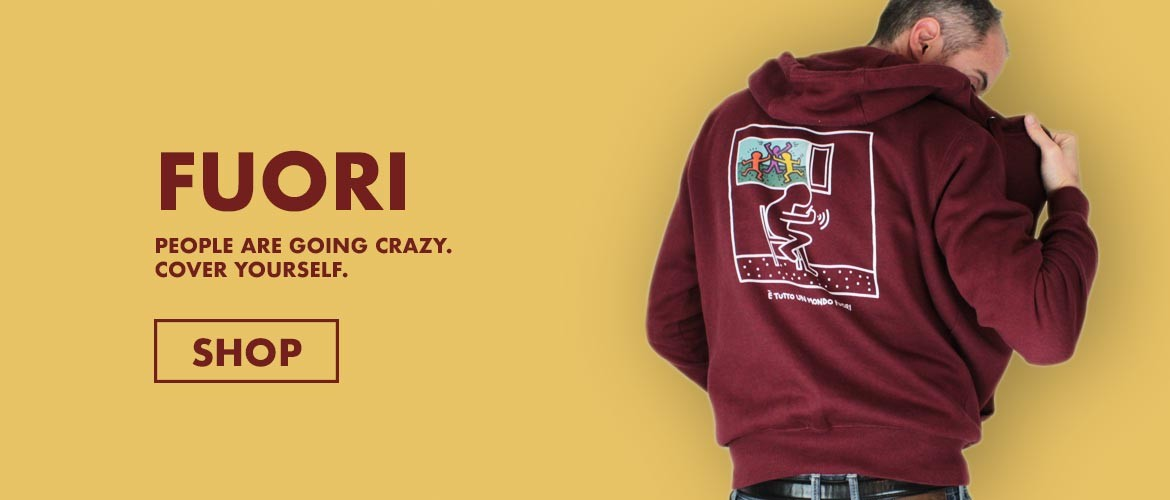 FUORI is the hoodie about the world that is going crazy. Inspired by the pop artist Keith Haring